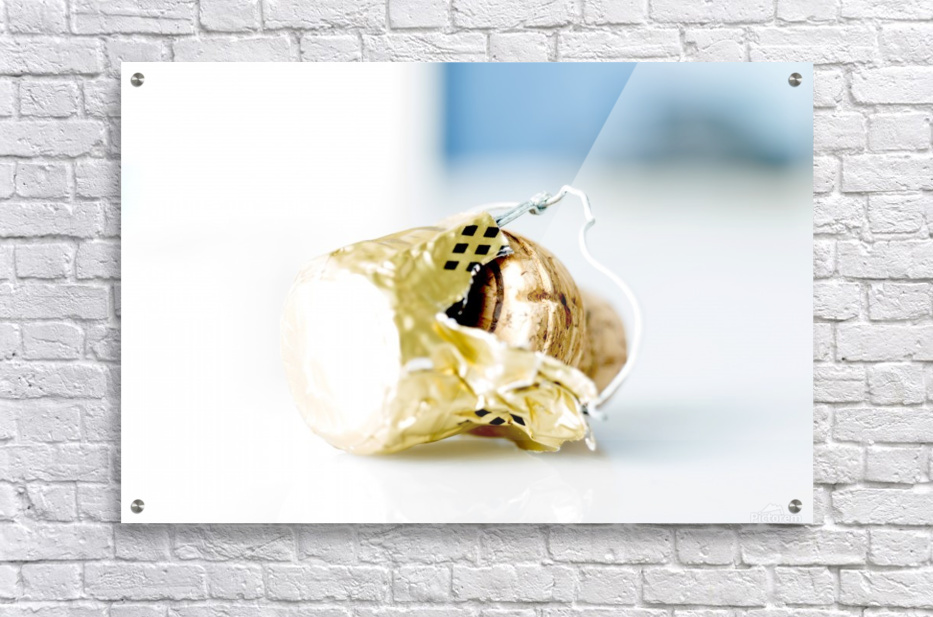 Popped Champagne cork and foil  Acrylic Print