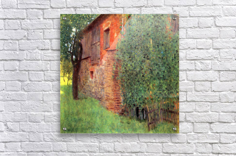 Farmhouse in Chamber in Attersee by Klimt  Acrylic Print