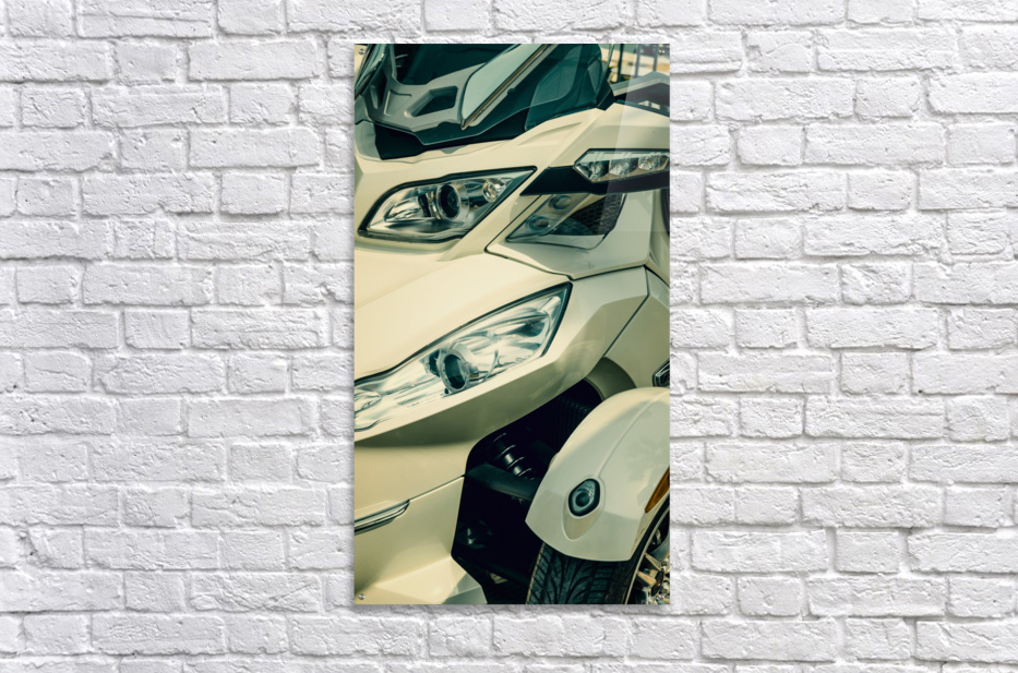 Head lights on the motor bike  Acrylic Print