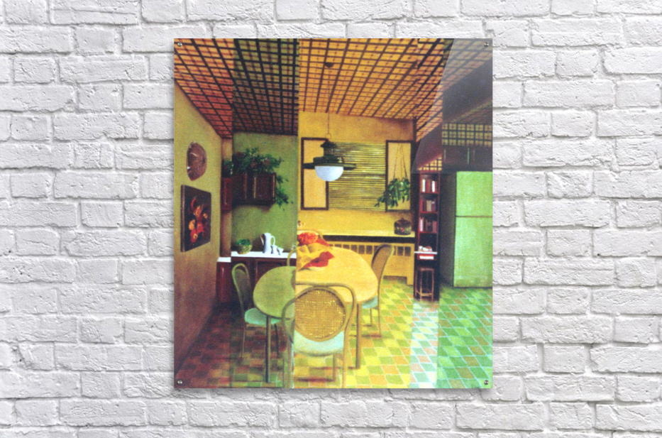 Retro Kitchen  Acrylic Print