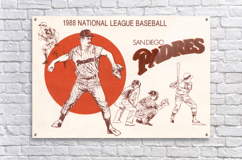 1988 san diego padres vintage poster  Acrylic Print