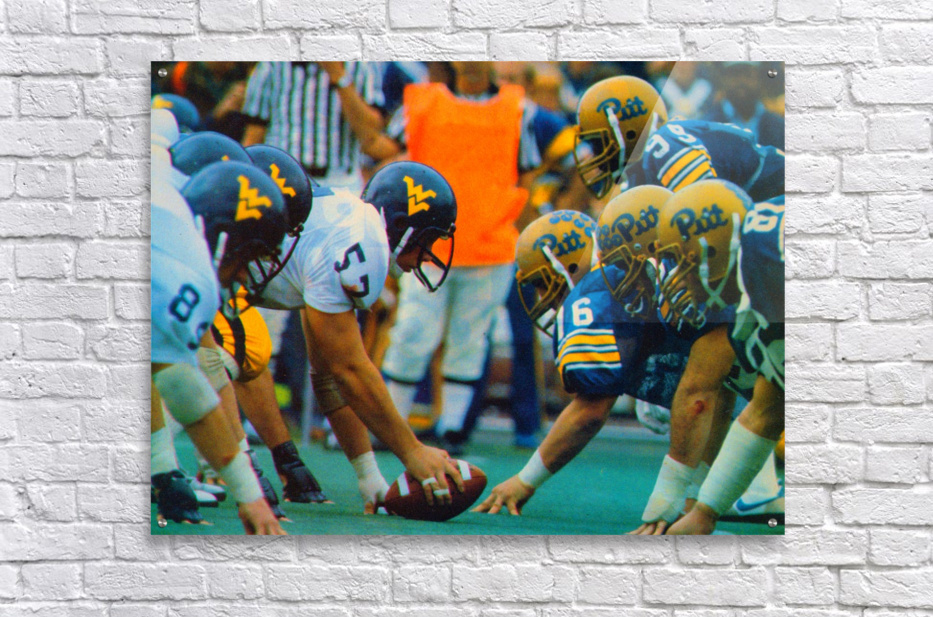 1981 College Football Photo West Virginia Pitt Panthers Wall Art  Acrylic Print