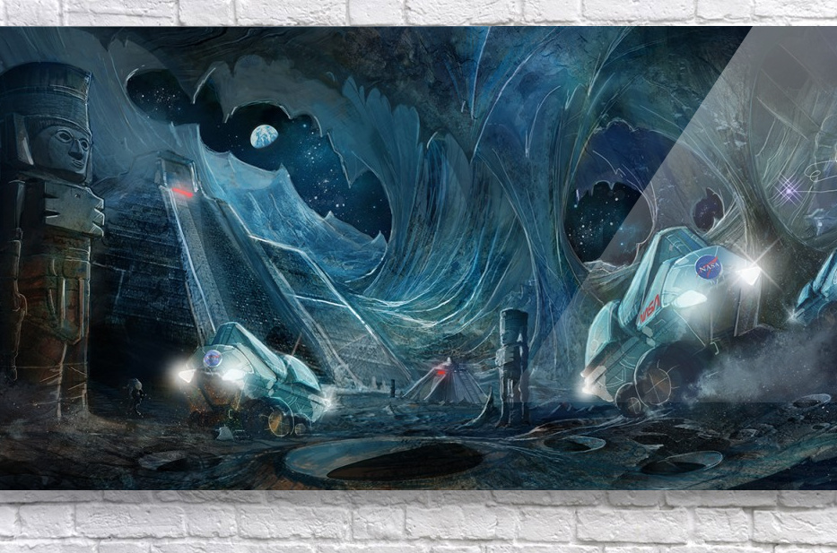 Ancient Aliens on the Moon  Acrylic Print