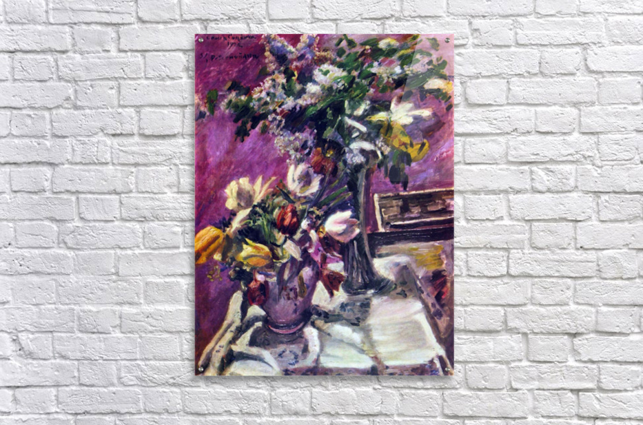 Lilac and tulips by Corinth  Acrylic Print