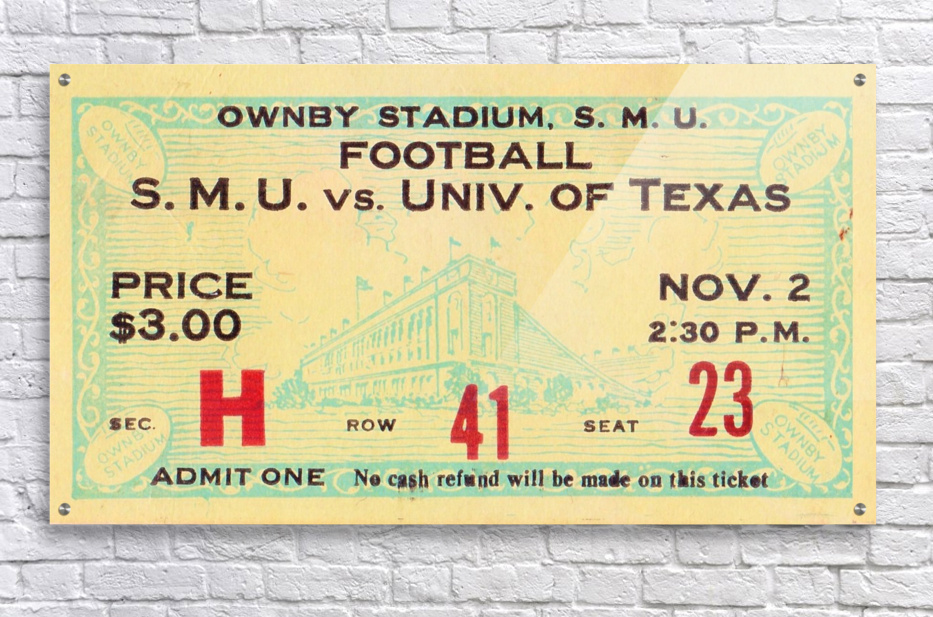1935 SMU National Champions vs. Texas  Acrylic Print
