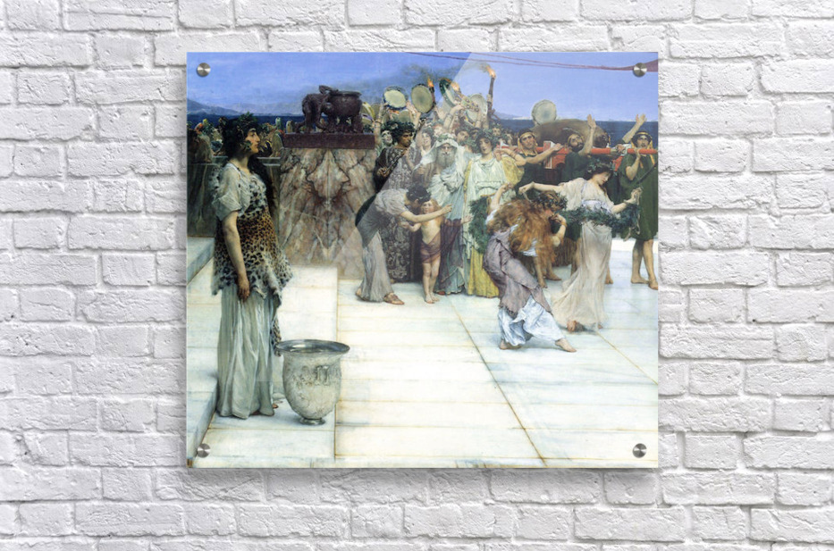 A consecration of Bacchus, detail -1- by Alma-Tadema  Acrylic Print