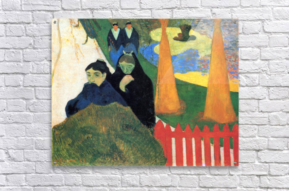 Old Maids in a Winter Garden - Arles by Gauguin  Acrylic Print