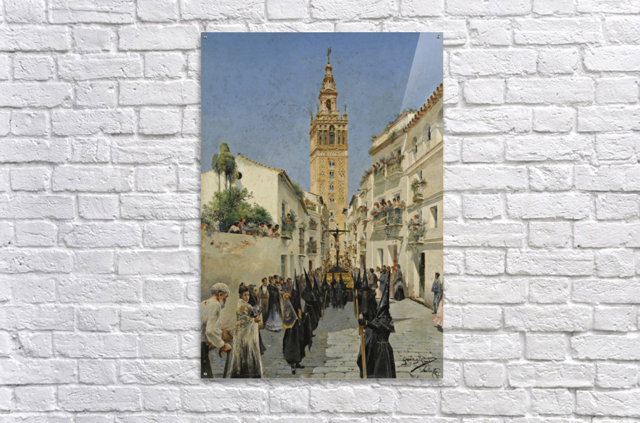 Easter Procession on Mateos Gago Street in Seville  Acrylic Print