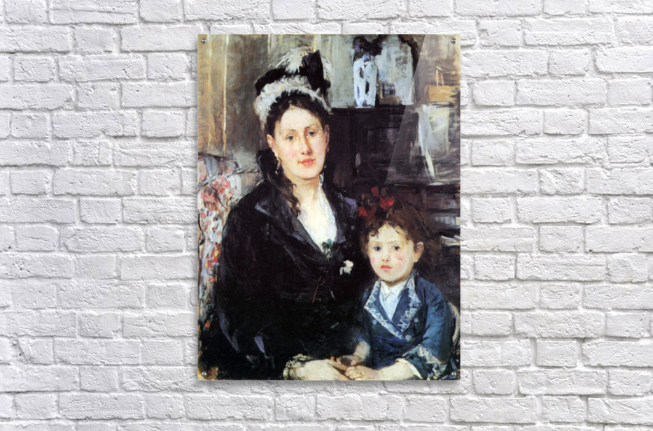 Portrait of Mme Boursier and Daughter by Morisot  Acrylic Print