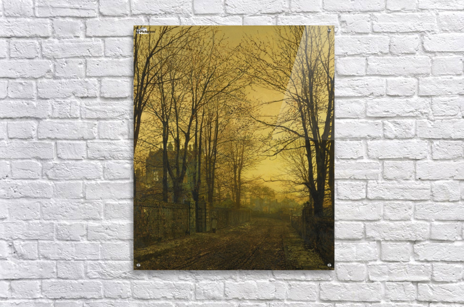 Autumn view with figure  Acrylic Print