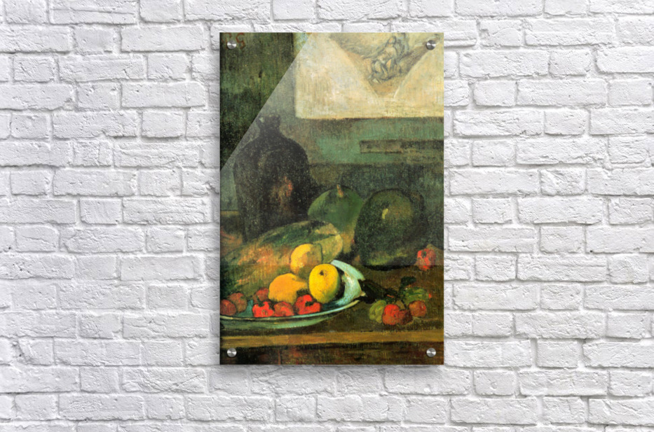 Still Life in Front of a Stich by Gauguin  Acrylic Print