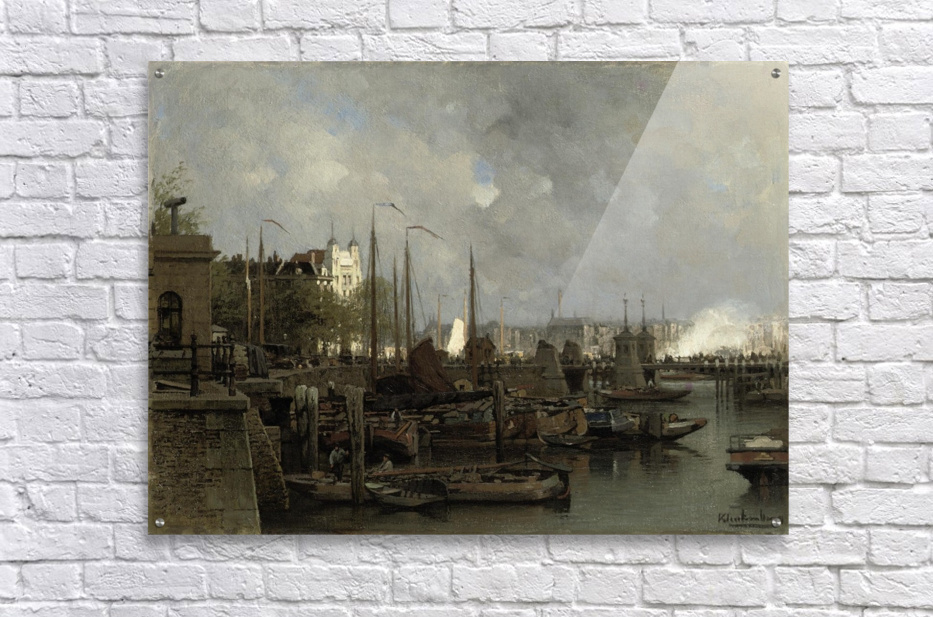 Oude haven with the Koningsbrug  Acrylic Print