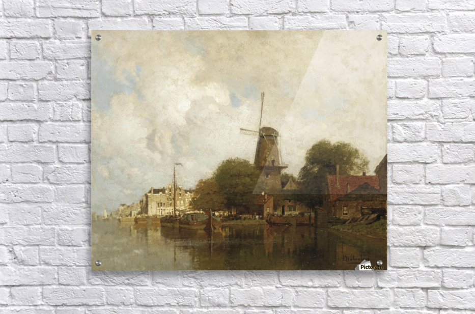 A windmill along the river Amstel, Amsterdam  Acrylic Print