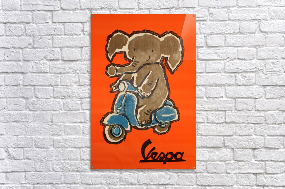 Vespa  Impression acrylique