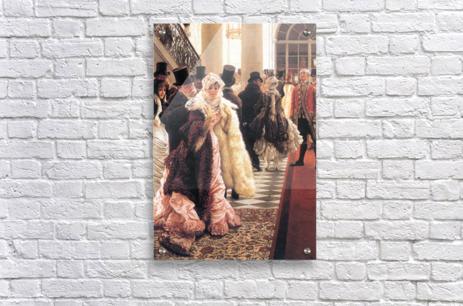 The fashionable woman by Tissot  Acrylic Print