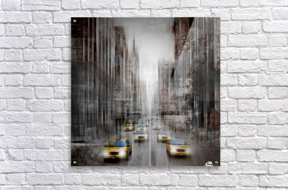 City-Art NYC 5th Avenue Traffic  Acrylic Print