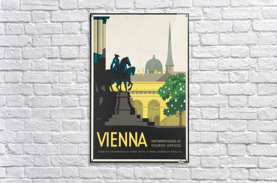Vienna vintage posters poster canvas