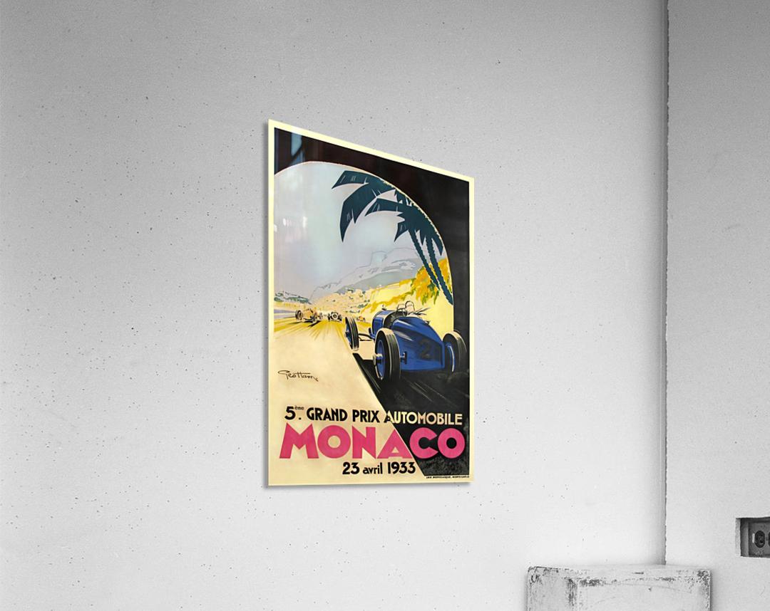 6 sizes, matte+glossy avail 1933 Monaco Grand Prix Vintage Racing Poster