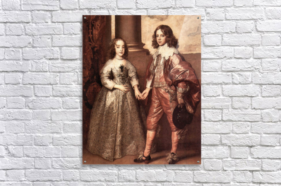 William of Orange with his future bride by Van Dyck  Acrylic Print