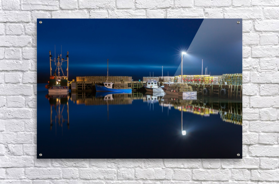 Night Time at the Wharf  Acrylic Print