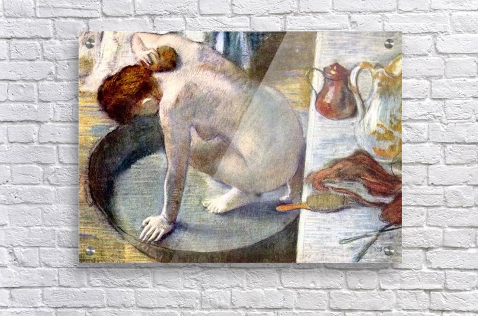 Woman washing in the tub by Degas - Degas - Canvas