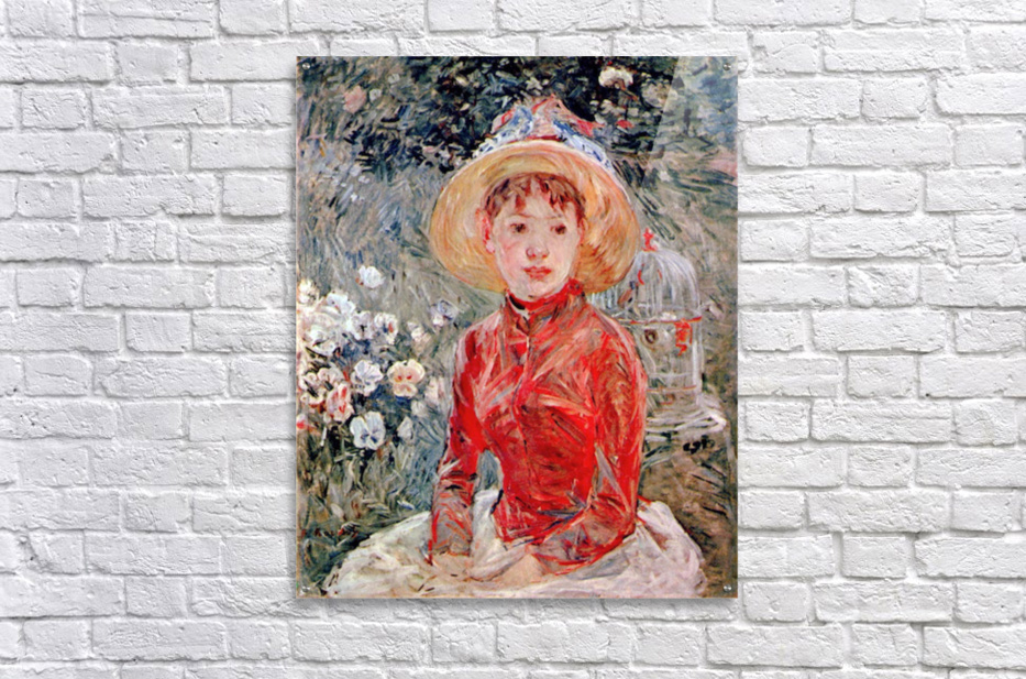 Young girl with cage by Morisot  Acrylic Print