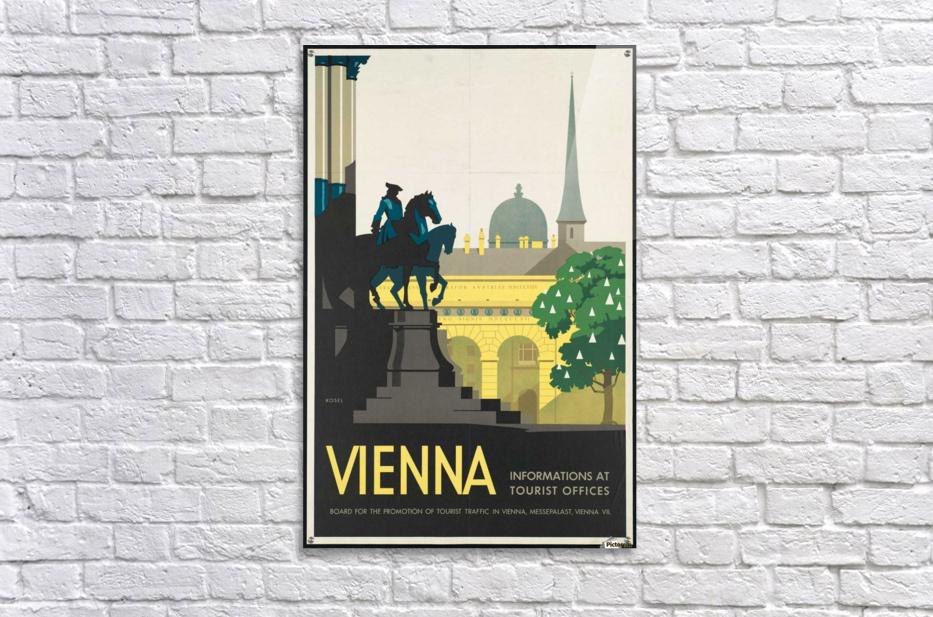 Vienna travel poster vintage canvas