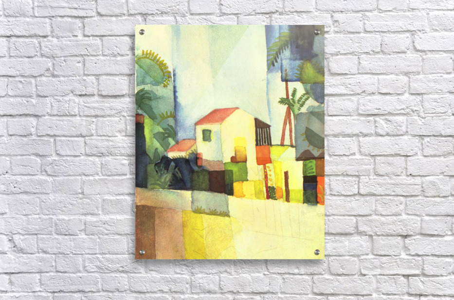 Bright house by August Macke  Acrylic Print
