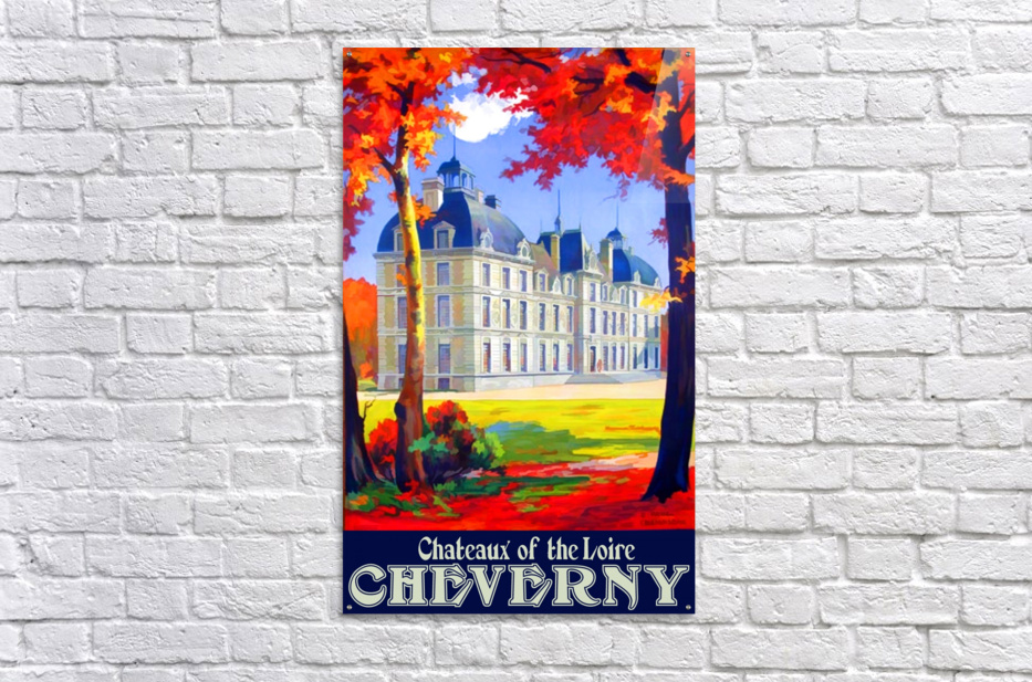Chateaux of the Loire Cheverny travel poster  Acrylic Print