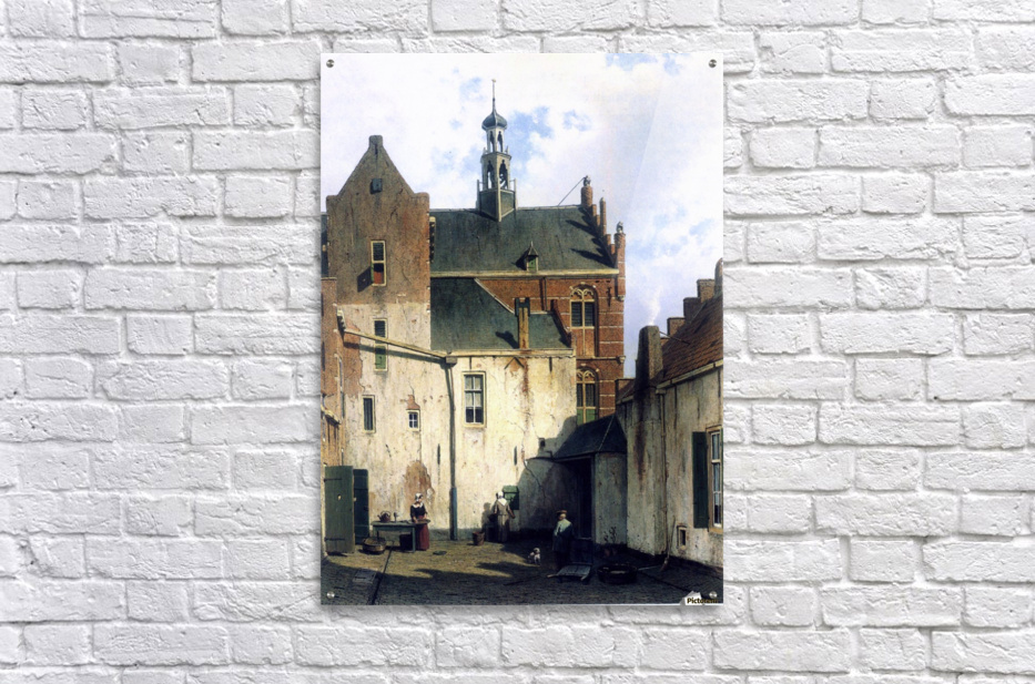 Culemborg, view at the westerly facade of the town hall at Wagenweg  Acrylic Print