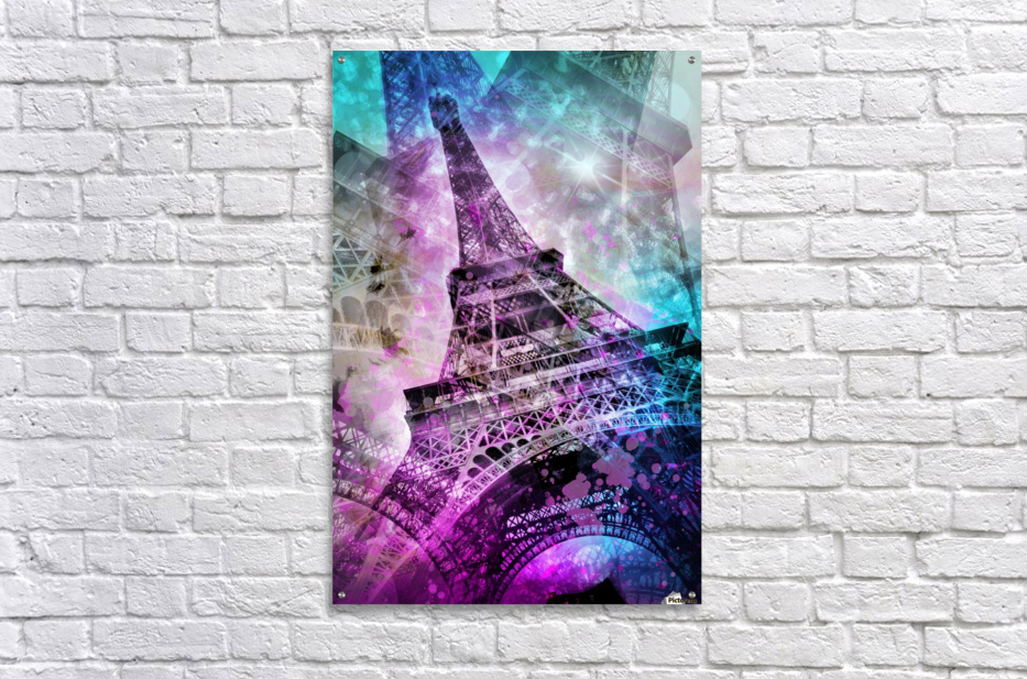 Pop Art Eiffel Tower  Acrylic Print