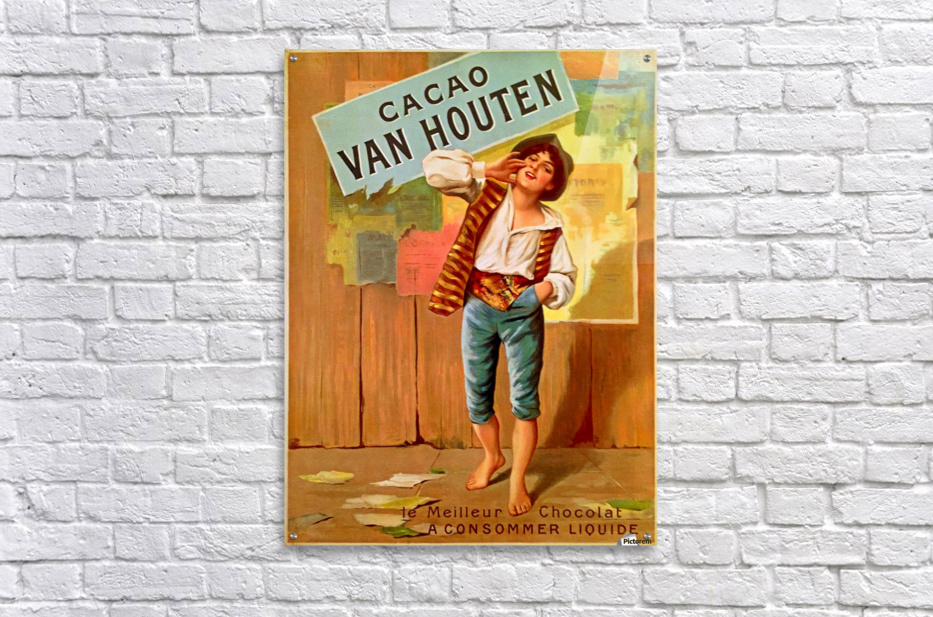 French Art Nouveau Period Poster for Cacao Van Houten  Acrylic Print