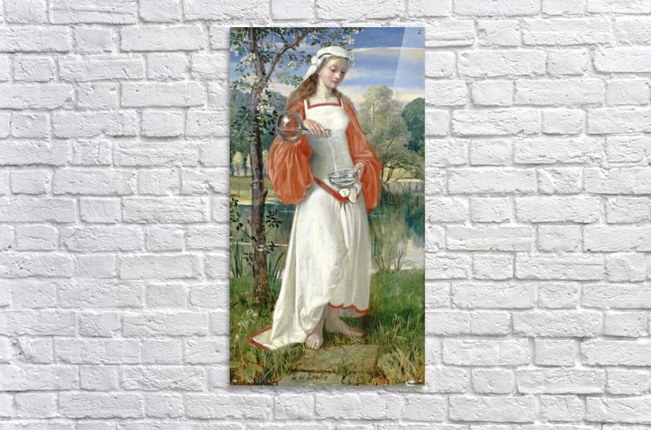 Allegorical Maiden in white dress  Acrylic Print