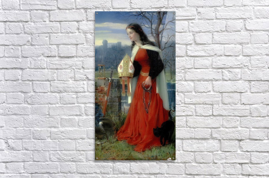Allegorical Maiden in red dress  Acrylic Print
