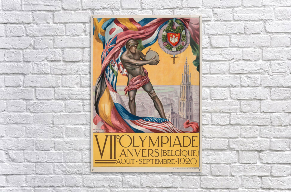 VII Olympiade, Anvers lithographic poster  Acrylic Print