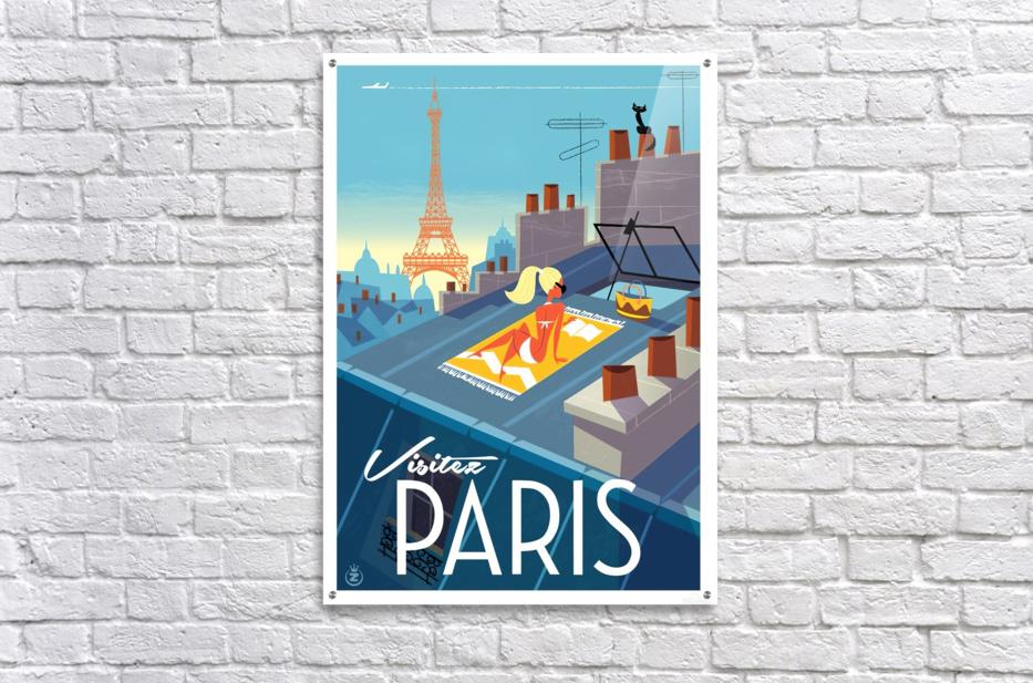 Visitez Paris vintage poster - VINTAGE POSTER Canvas