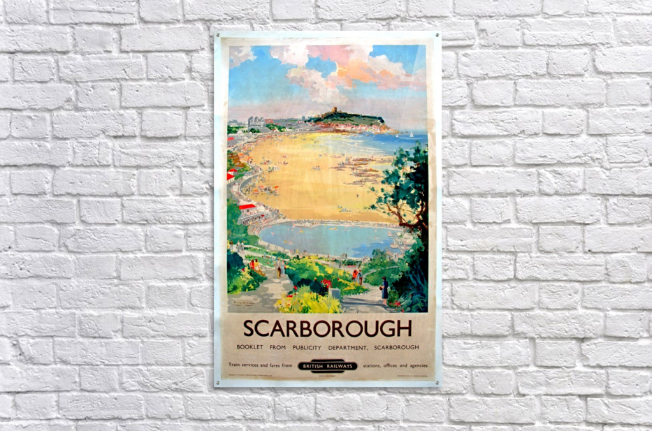 Original Railway Poster Scarborough  Acrylic Print