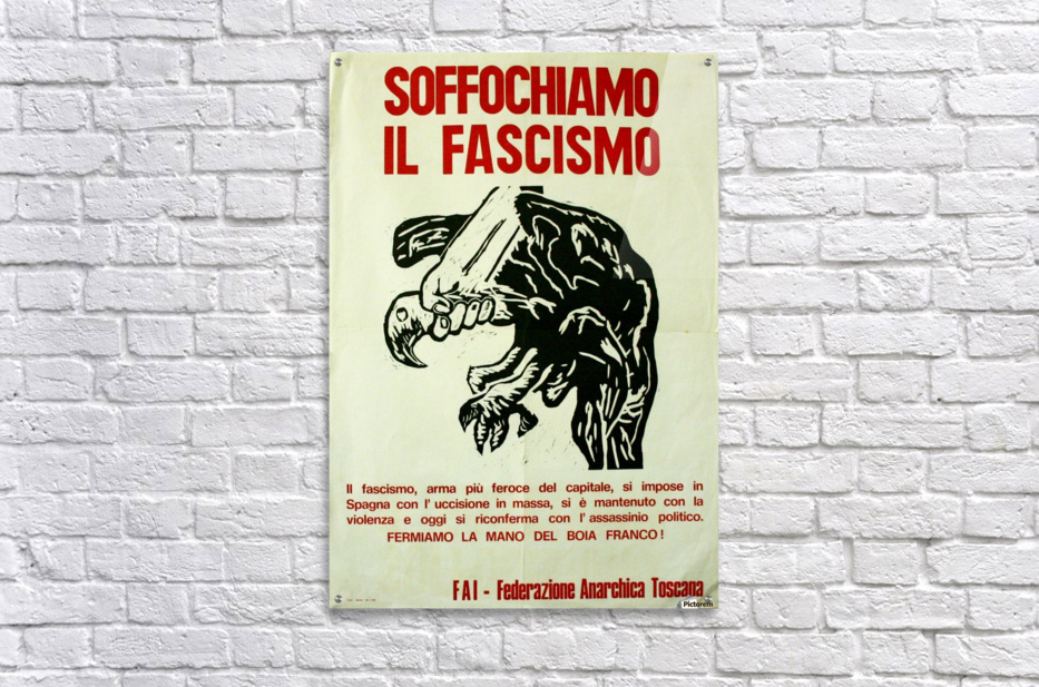 Suffocate fascism  Acrylic Print