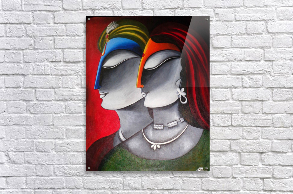 Divine Love Krishna and Radha  Acrylic Print