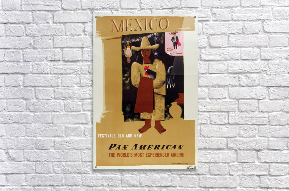 Mexico Pan American Poster  Acrylic Print