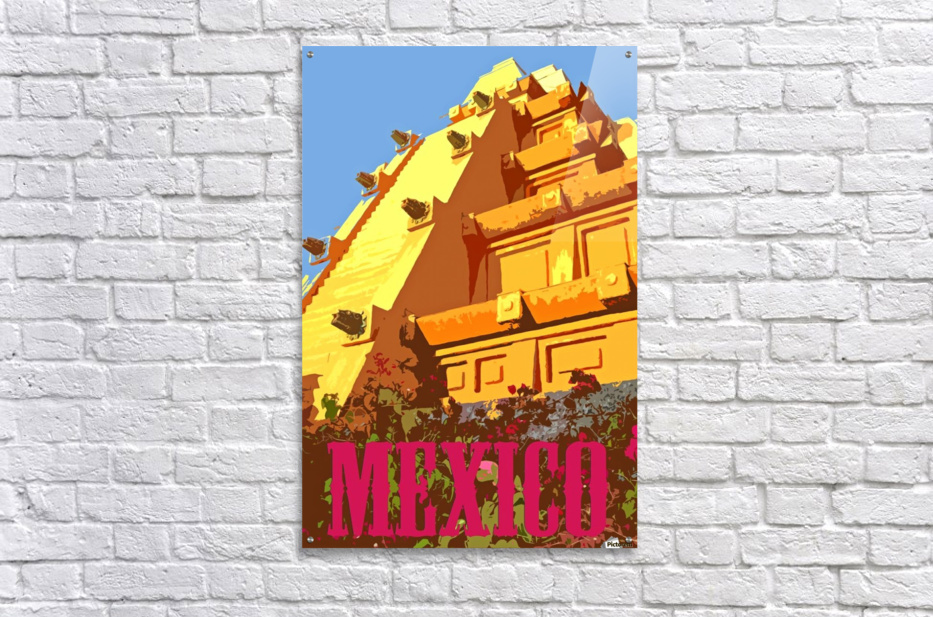 Mexico City vintage travel poster  Acrylic Print