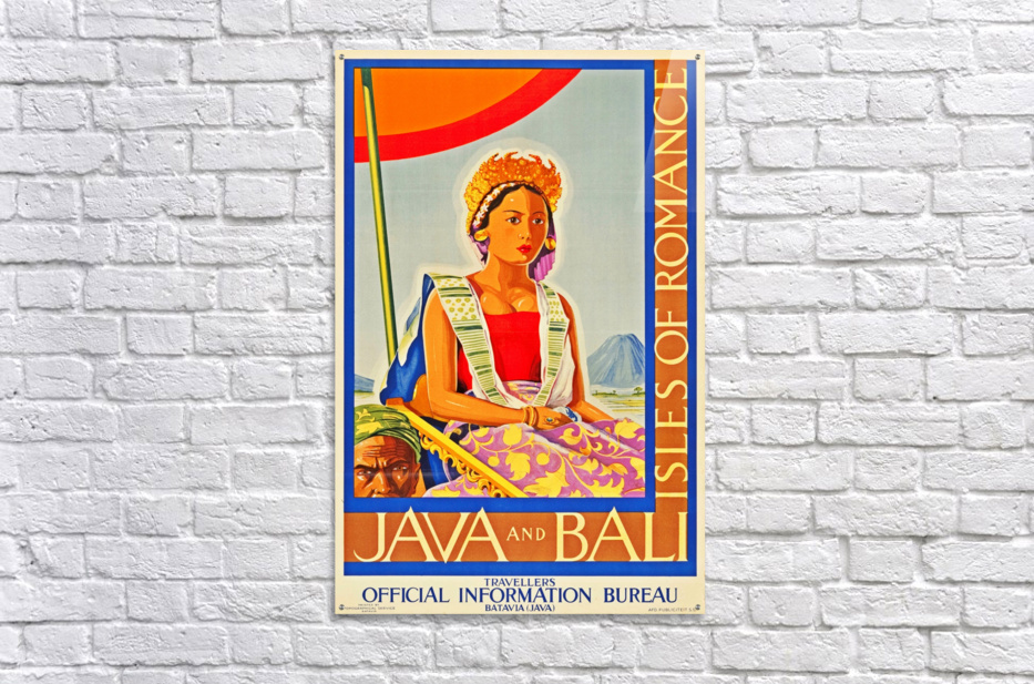 Java and Bali travel poster  Acrylic Print