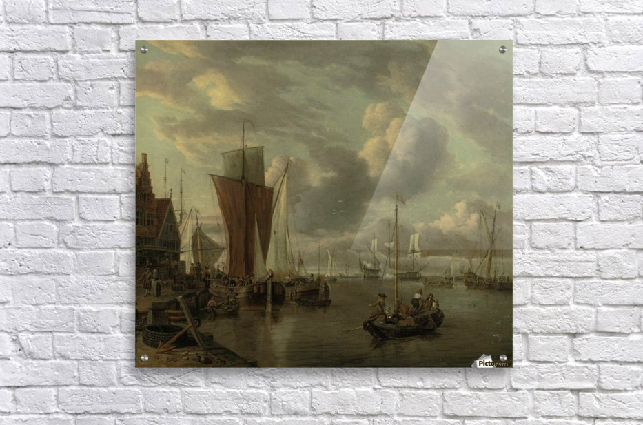 Quayside with extensive shipping  Acrylic Print