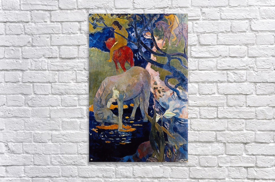 The White Horse by Gauguin  Acrylic Print
