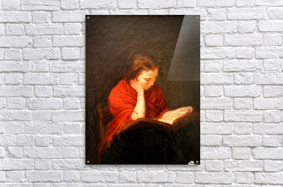 Woman reading  Impression acrylique