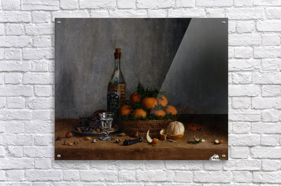 Still Life with Basket of Oranges  Acrylic Print