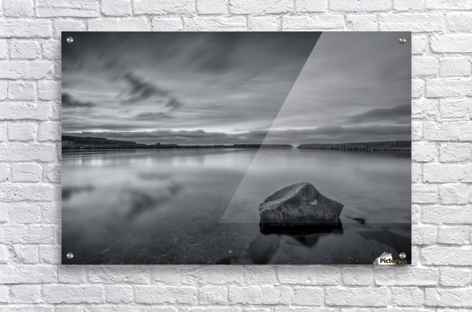 Inside the Harbour - bw  Acrylic Print