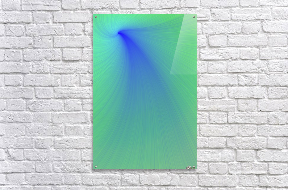 Blue And Green Abstract  Acrylic Print