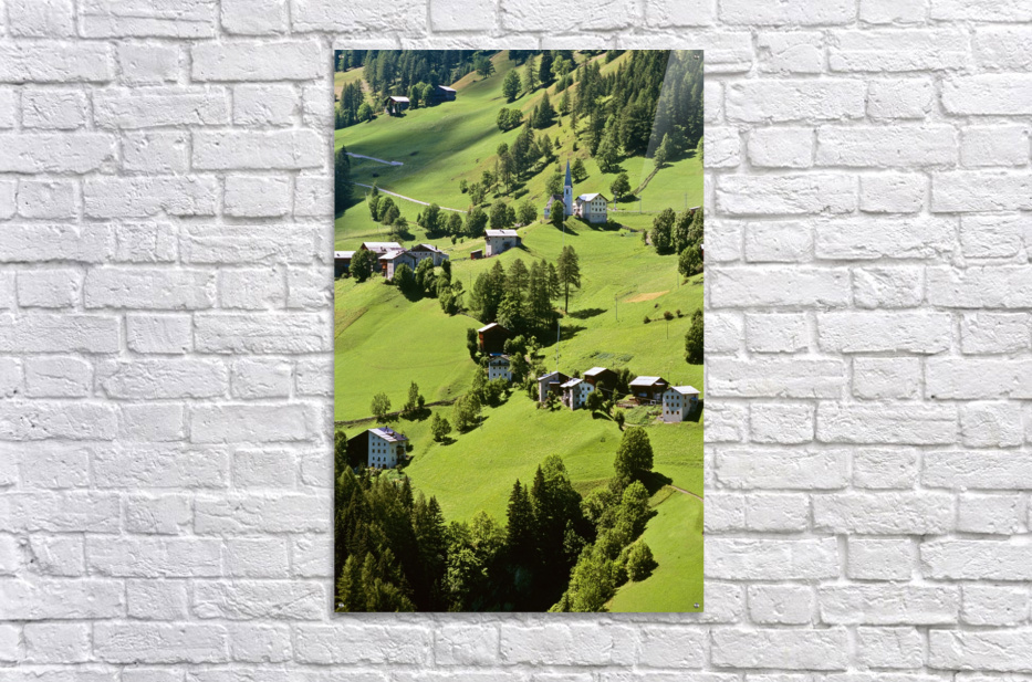 Mountain Village In Dolomites, Italy  Acrylic Print