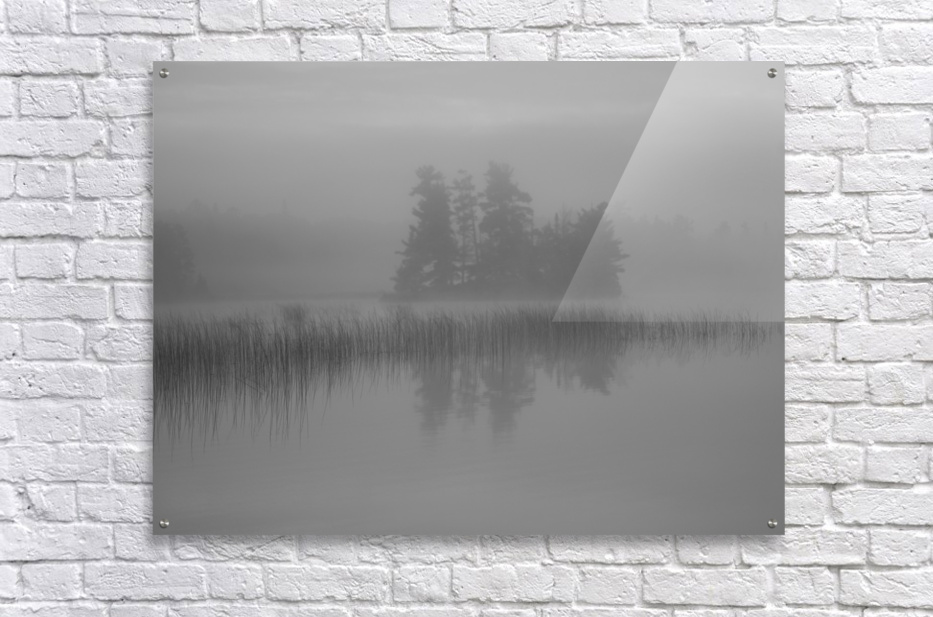 Lake Of The Woods, Ontario, Canada; Mist Rises Over Lake  Acrylic Print